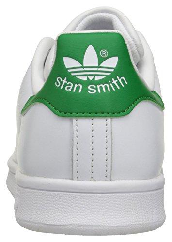 adidas Originals Women's Stan Smith, White/Cloud White/Green, 10