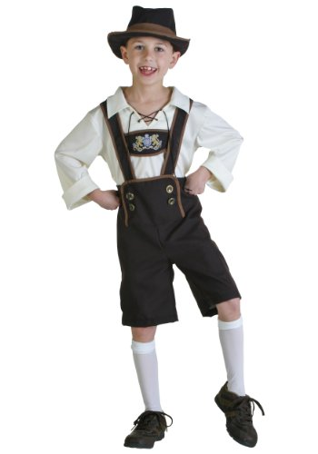 Fun Costumes boys Little Boys' Lederhosen Boy Costume Large (12-14)