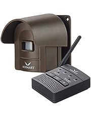 HOSMART 1/2 mijl draadloze bewegingsmelder oprijdt alarm alarm radio en weerbestendige veiligheid bewegingsmelder 1 Empfänger und 1 koffiesensor
