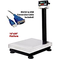 Prime Scales 800lb/0.05lb 16x20 Smart Bench Scale / Checkweigher with Indicator+USB+Software