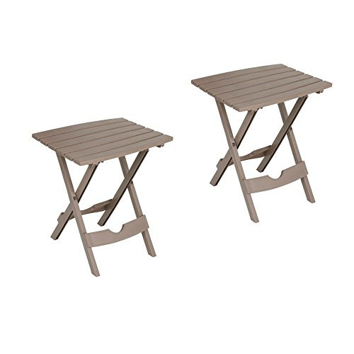 Adams Manufacturing Quik-Fold Side Table Pack of 2-Portobello by Adams