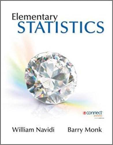 Amazon elementary statistics 9780073386126 william navidi elementary statistics 1st edition fandeluxe Choice Image