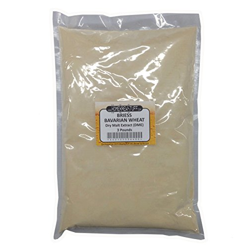 Wheat Malt Extract - HomeBrewStuff Briess CBW Dry Malt Extract (DME) for Home Beer Brewing (Bavarian Wheat, 3 Pound)
