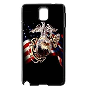 cool United States Marine Corps-USMC design Custom Case for Samsung Galaxy note3 PC case cellphone cover black
