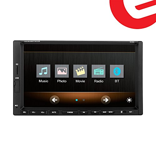 Ezonetronics 7-inch Indash Double DIN Touch Screen Car Player Car Stereo