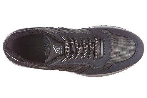 Hogan chaussures baskets sneakers homme en cuir interactive n20 h 3d gris
