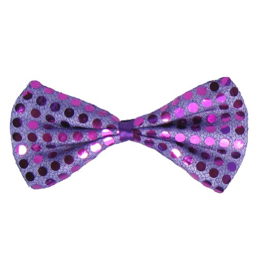 [SeasonsTrading Purple Sequin Bow Tie ~ Fun Costume Party Accessory (STC12063)] (Fun Cheap Easy Halloween Costumes)