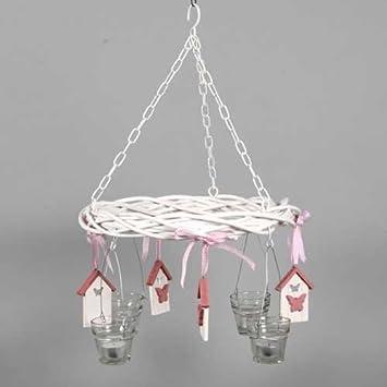 Deko Decken Kranz Pink Butterfly 4 Teelichtglaser Amazon De Kuche