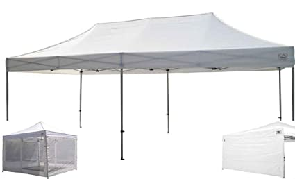 Impact Canopy  Ez Pop Up Canopy Tent Commercial Instant Gazebo With Sidewalls And