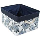 uxcell Storage Baskets w Cotton Handles Foldable Storage Toy Bin Laundry Basket Clothes Towel Organizer 14.2 x 10.2 x 6.7 Blue Gypsophila