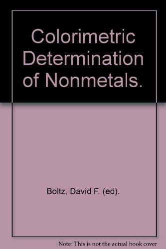 Colorimetric Determination of Nonmetals.
