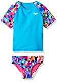 Speedo Kids Girls Printed Rash Guard 2PC