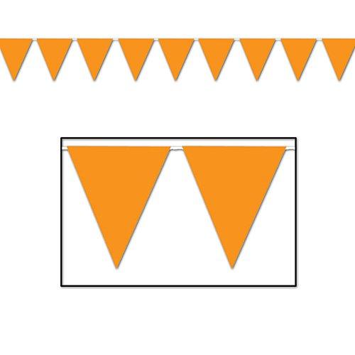 Indoor/Outdoor Pennant Banner (orange) Party Accessory  (1 count) (1/Pkg) (Spirit School Pennants)