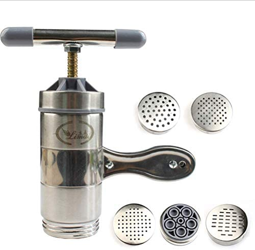 ghdonat.com Stainless Steel Pasta Maker Manual Noodle Press ...
