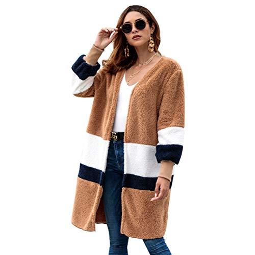 02 Sezione E Maglione s Cappotto Cardigan Gzyd Media Sciolto Donna 01 Lunga Più Dolce Morbido Da Accogliente Felpa Colori awz4H