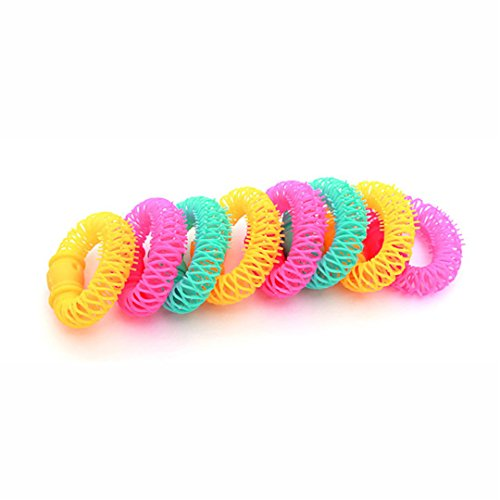 8Pcs New Hair Styling Roller er Plastic Hair Curler Curler Spiral Curls DIY Tool Hair Accessories by HAHUHERT (Image #6)