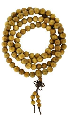 Tibetan 8mm Prayer Beads, Tibetan Mala, Wood Necklace