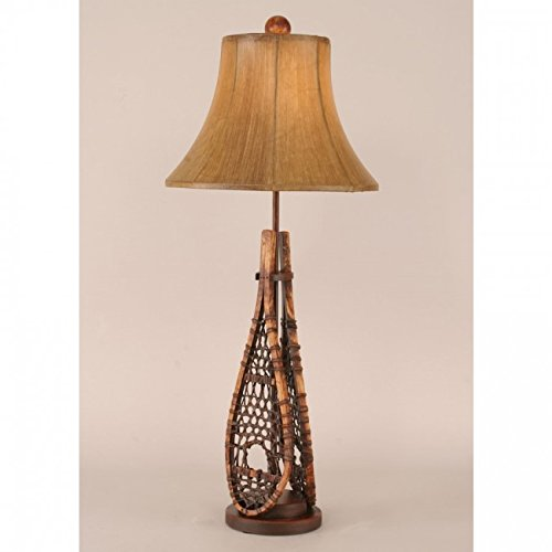 Coast Lamp Manufacturer 12-R6B Stained Snow Shoe Buffet Lamp - 29 in. from Coast Lamp Manufacturer