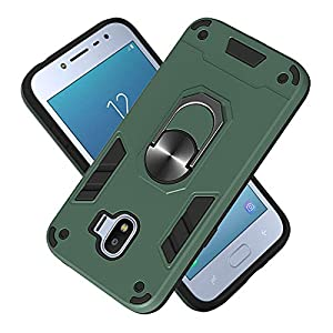 FAWUMAN Armatura Custodia Samsung Galaxy J2 PRO (2018), Shell PC+TPU Cassa Cover Supporto di Anello Rotante di 360 Case… 1 spesavip