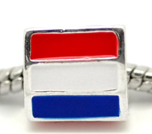 Flag charm of the Netherlands / Holland fit Pandora, Biagi, Tedora
