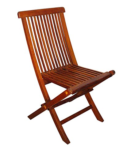 Blue Star Group Terrace Mates Folding Side Chair Set, Natural Wood Stain, Set of 2 Review