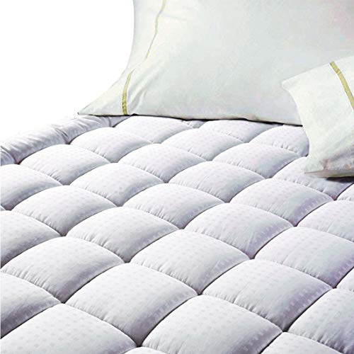 - EASELAND Quilted Fitted Cooling Mattress Pad (Queen)-Mattress Cover Stretches up 8-21