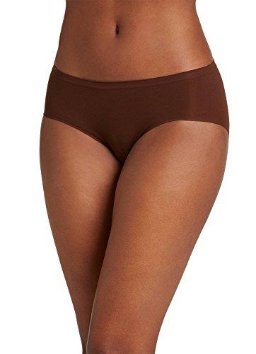 Womens Brown Air (Jockey Women's Underwear Seamfree Air Hipster, espresso, 7)