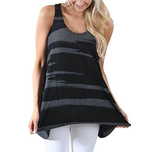 (KIKOY Women Fashion Casual Sleeveless Camouflage Crop Top Tank Blouse Cami Top)