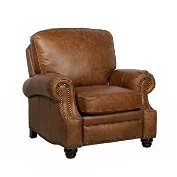 Amazon.com: Barcalounger Longhorn II Leather Recliner Saddle ...