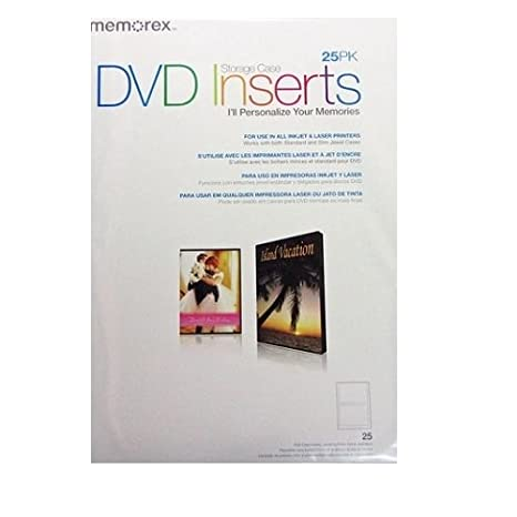 amazon com memorex dvd case inserts 25 pack white matte home
