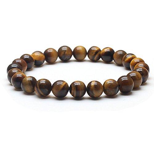 Weelovee 100% Nature Agate Stone Stretch Beaded Bracelet Mens Women Black Rock Diffuser Yoga Mala Buddhist Chakra Lucky Karma Heaing Power Jewelry Set ()