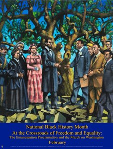 Black History Month Poster 2013 Theme Based on the Emancipation Oak B13A