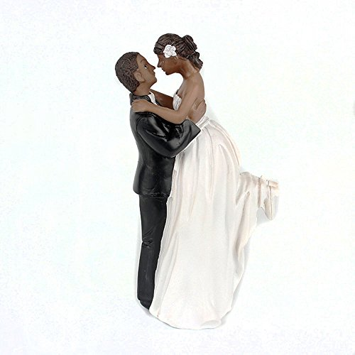 Homanda Black Resin Wedding Decoration Cake Topper for Wedding Engagement Bridal shower Wedding - Toppers Wedding Black Cake