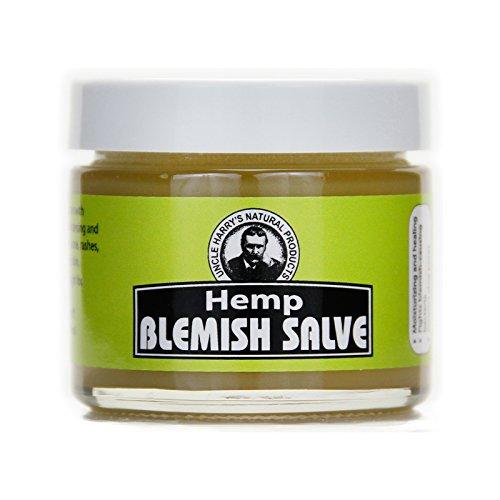 Hemp Salve - Uncle Harry's Hemp Blemish Salve Healing Ointment (2 oz glass jar)