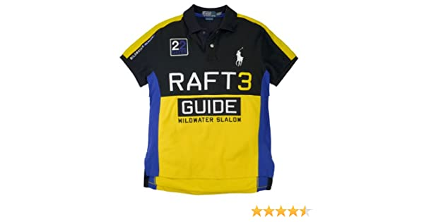 2f695d33b Polo Ralph Lauren Men s Custom Fit Raft Guide Pieced Polo