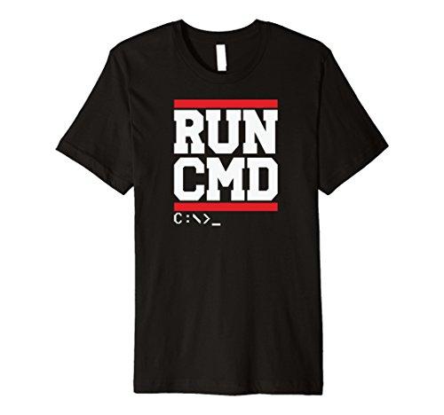 Mens RUN CMD C:\ Command Prompt Windows MS DOS cmd exe Shirt Large
