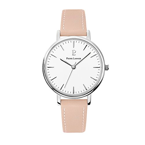 Women's Watch Pierre Lannier - 089J615 - WEEK-END SYMPHONY - Pink and White - Leather Band