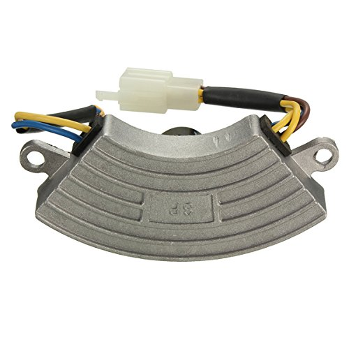 Regulador de voltaje - SODIAL(R) Regulador de voltaje gris 2 KW-3KW generador de gasolina automatico AVR carcasa de aluminio 060650
