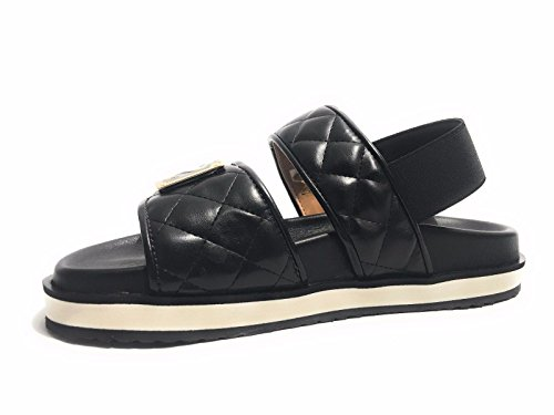 Chaussures Femme Sandalo Amour Moschino Pier Quilted Noir Ds17mo11 (35)