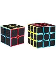 Coogam Zcube Carbon Fiber Cube Bundle 2x2 3x3 Speed Cube Puzzle Toy