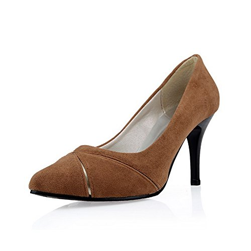 BalaMasa Ladies Fashion Pleather Pumps-Shoes Camel MFhsxyss