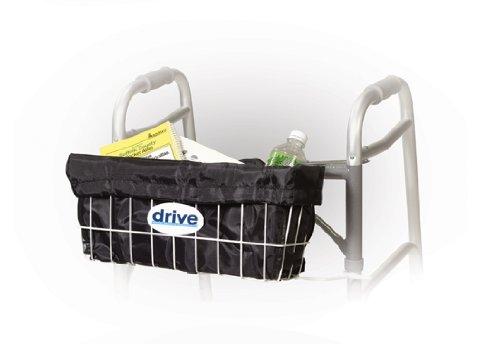 Drive Medical Deluxe Walker Basket Carry Bag Liner, Black Drive Medical Walker Basket
