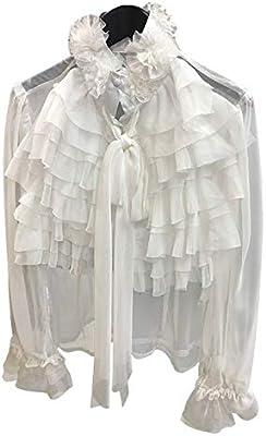 SETGVFG Perspectiva Tops Mujer Bowknot Flare Camisa De Manga Larga con Volantes Blusa Mujer Ropa De Moda Coreana Primavera XL Blanco: Amazon.es: Deportes y aire libre