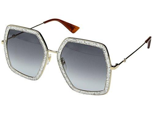 Sunglasses Gucci GG 0106 S- 006 SILVER / GREY GOLD