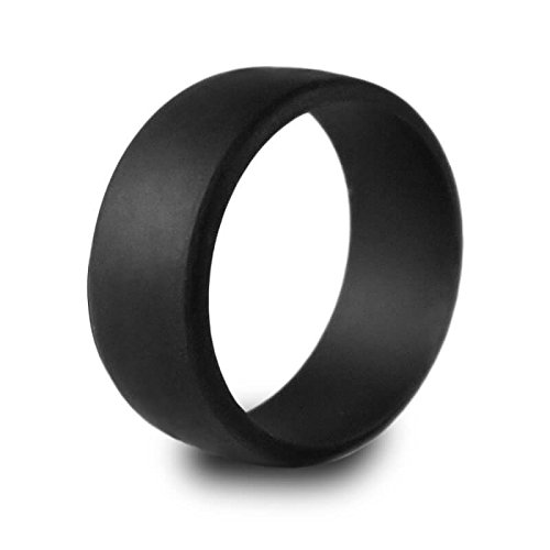Harvest Male Men's Silicone Wedding Ring for Active Lifestyles, Sports, Outdoors and Work Men in Nice Gift Box