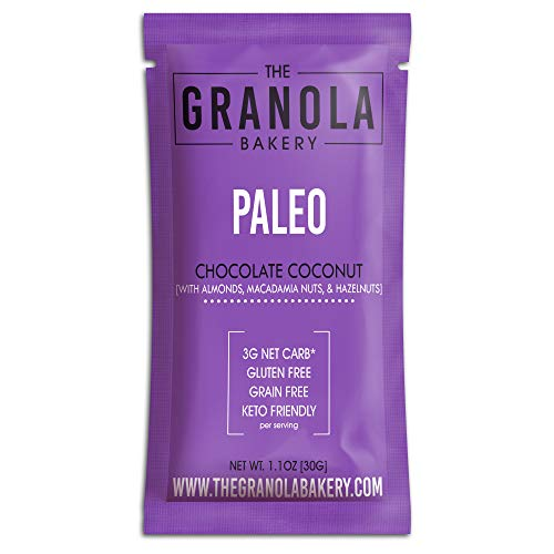 Granola Bakery - Dark Chocolate Granola, Keto Friendly Fat Bomb Snacks, Low Net Carb, Organic Vegan Low Carb Breakfast Cereal Snack To Go (Almond Cacao Hazelnut Macadamia Nuts, 12 Pack)