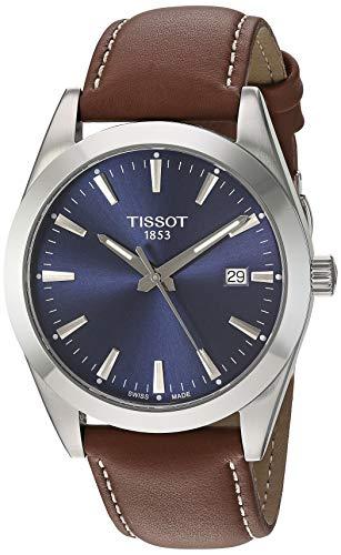 Tissot Mens Gentleman Swiss Quartz Stainless Steel Dress Watch (Model: T1274101604100)