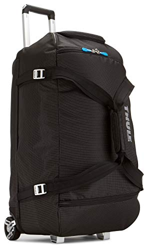 Thule TCRD-2Black Crossover 87 Liter Rolling Duffel Pack, 87-Liter