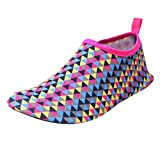 vermers Unisex Beach Shoes Water Shoes Quick Drying Summer Outdoor Water Shoes Barefoot Yoga Socks Diving Sports(US:6, Hot Pink)