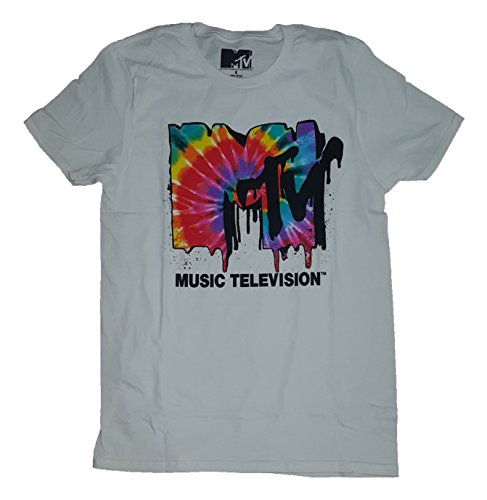 Fashion MTV Music Television Melted Tie Dye Logo White Graphic T-Shirt - 3XL